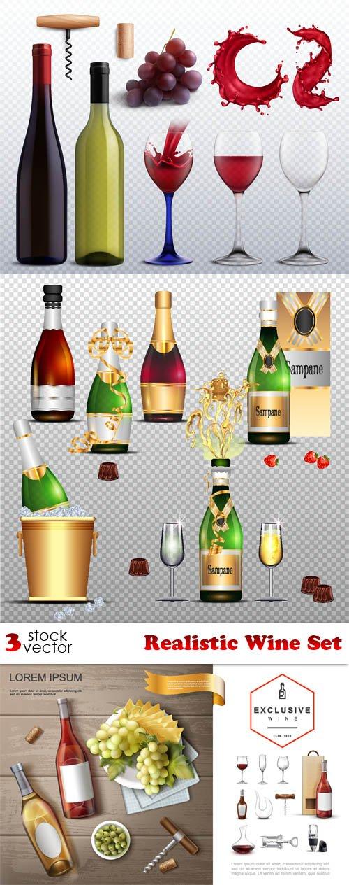 Vectors - Realistic Wine Set