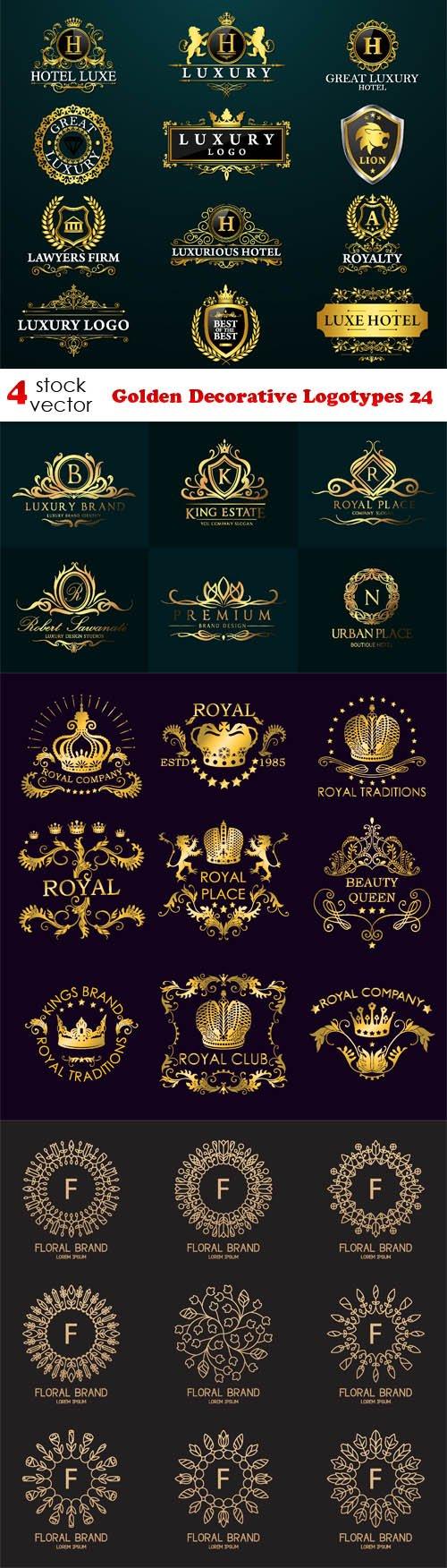Vectors - Golden Decorative Logotypes 24