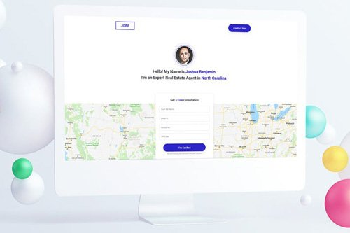 Real Estate Agent Landing Page PSD Template