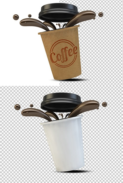 PSDT Takeout Coffee Cup Mockup 250705329