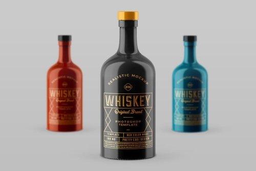 Whiskey Bottle Mock-up Template