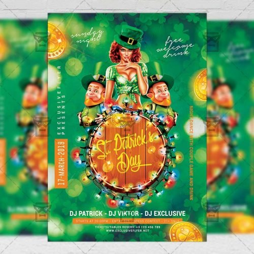 Seasonal A5 Template - Patrick's Day Party Flyer