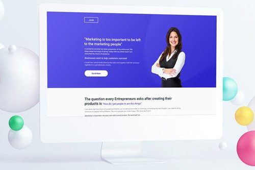 Growth Course Landing Page PSD Template