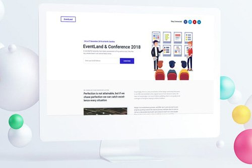 Event & Conference Landing Page PSD Template