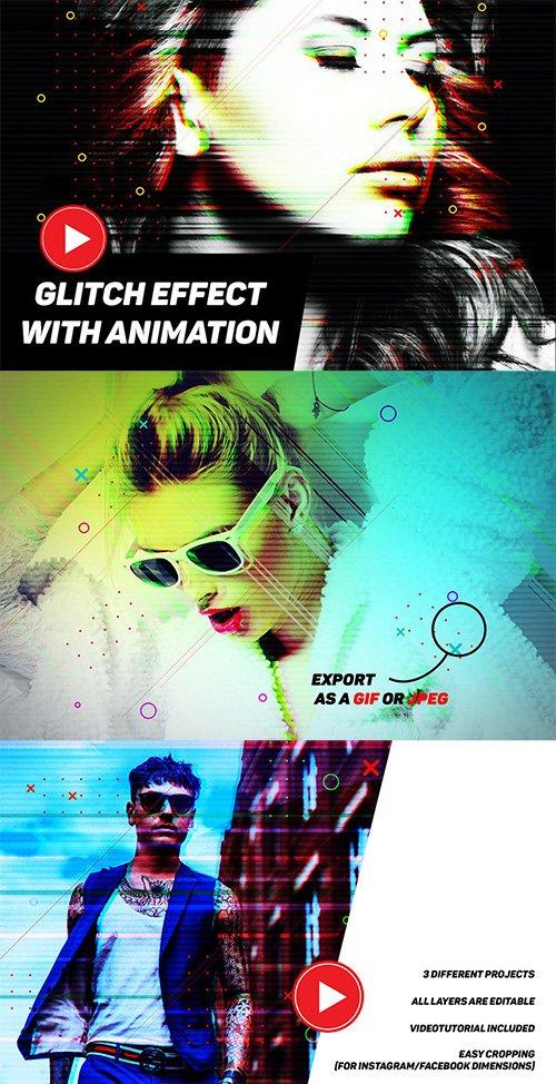 Modern Glitch with GIF Animation
