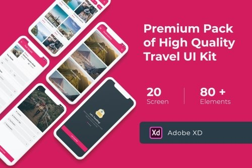 Premium Travel UI KIT for XD