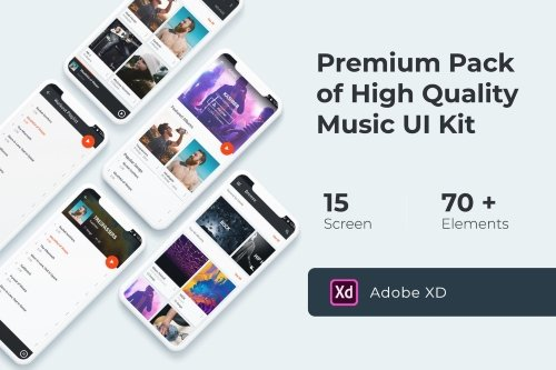 Music Multimedia UI KIT for XD