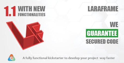 CodeCanyon - Laraframe v1.1 - Laravel Kickstarter - 22697494