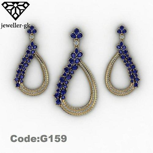earring and medal 3D model