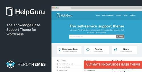 ThemeForest - HelpGuru v1.7.1 - A Self-Service Knowledge Base WordPress Theme - 8465592