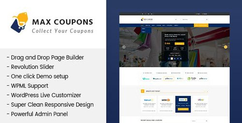 ThemeForest - Max Coupons v1.2.2 - WordPress Theme (Update: 15 February 19) - 20303982