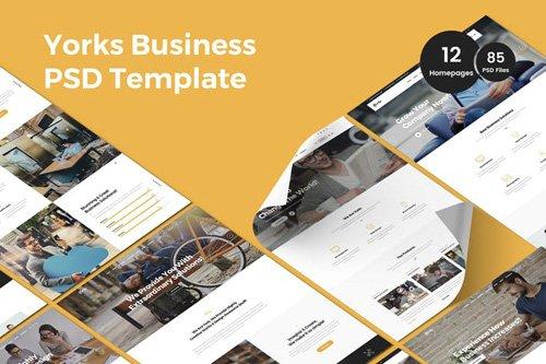 Yorks - Business Multi-Purpose PSD Template