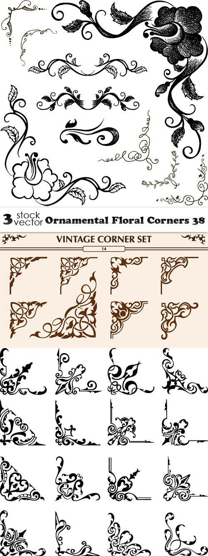 Vectors - Ornamental Floral Corners 38