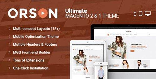 ThemeForest - Orson v1.1.1 - Ultimate Magento 2 1 Theme - 16798772