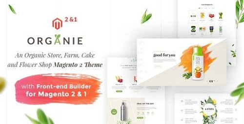 ThemeForest - Organie v1.5.4 - An Organic Store, Farm, Cake and Flower Shop Magento 2 and 1 Theme - 19620006