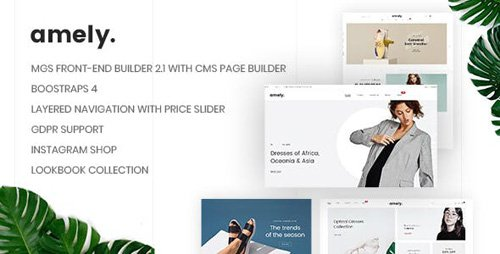 ThemeForest - Amely v1.0.7 - Clean & Modern Magento 2 Theme - 22145963
