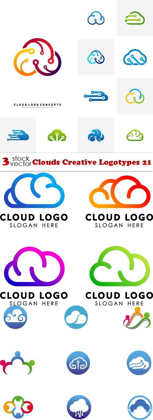 Vectors - Clouds Creative Logotypes 21