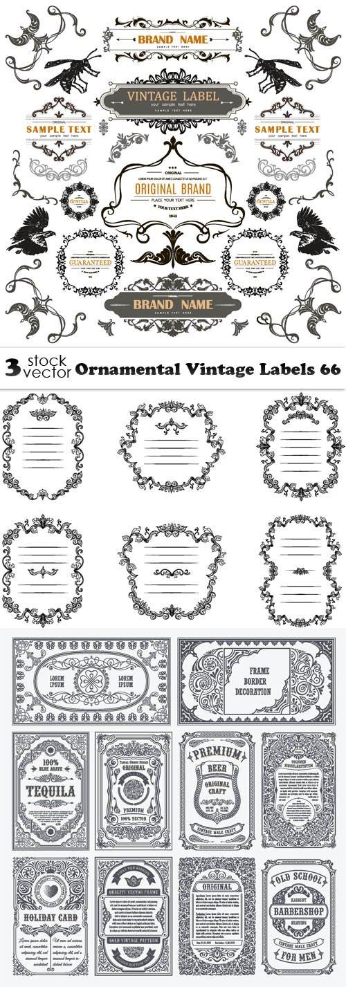 Vectors - Ornamental Vintage Labels 66