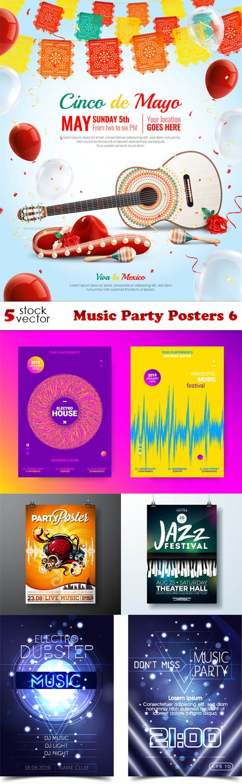Vectors - Music Party Posters 6