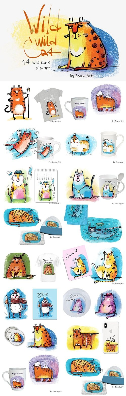 Wild Wild Cat - 14 illustrations - 3050758