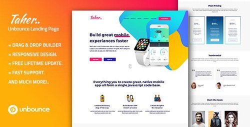 ThemeForest - Taher - Responsive Unbounce Landing Page Template (Update: 9 October 18) - 22535115