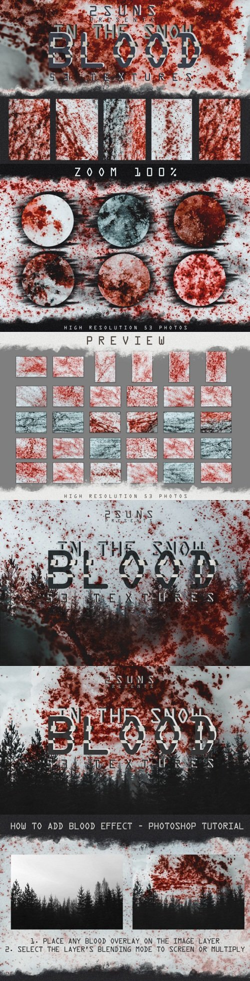53 Textures Pack Blood In The Snow