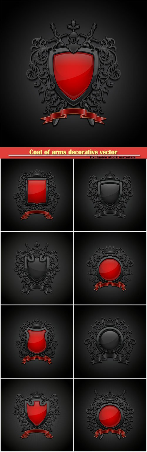Coat of arms decorative vector illustration