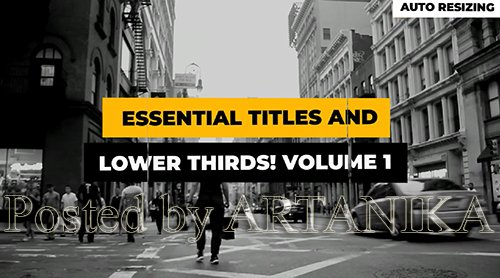 Titles Lower Thirds Auto-Scale Vol.1 186851