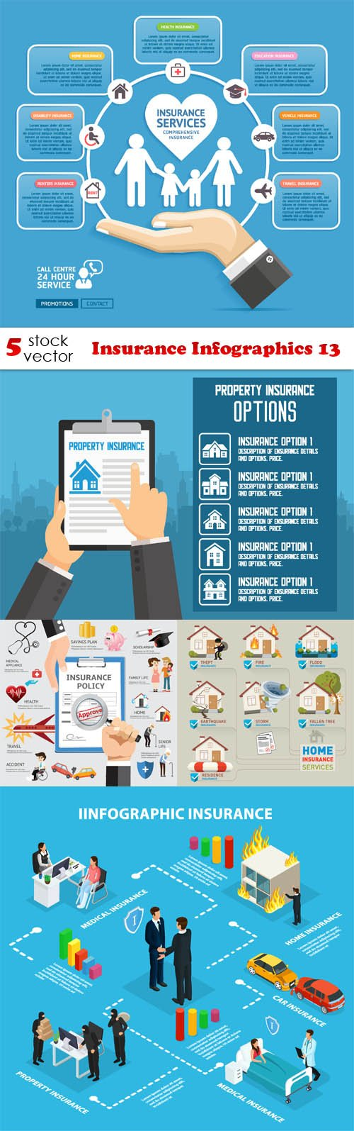 Vectors - Insurance Infographics 13