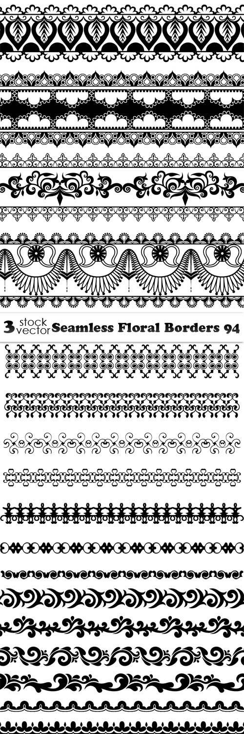 Vectors - Seamless Floral Borders 94