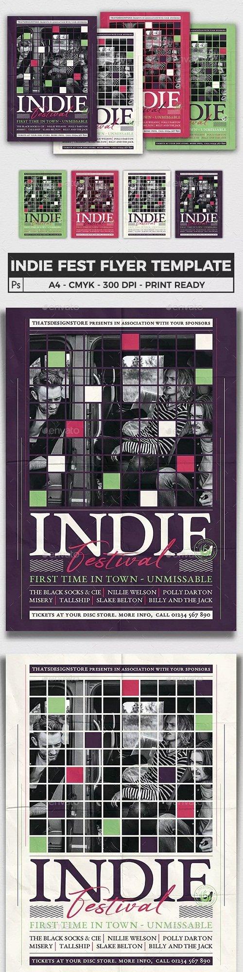 Indie Fest Flyer Template V5 - 23180878