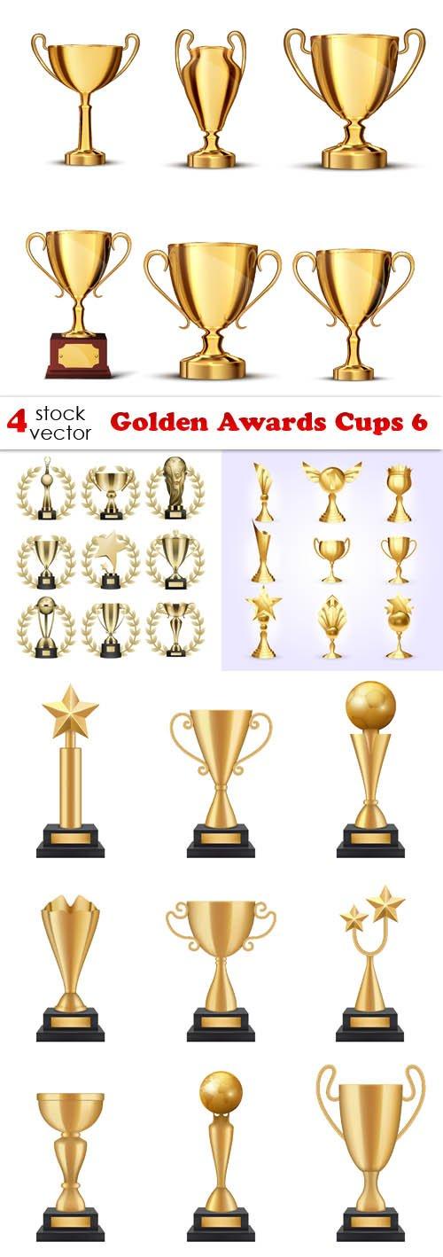 Vectors - Golden Awards Cups 6