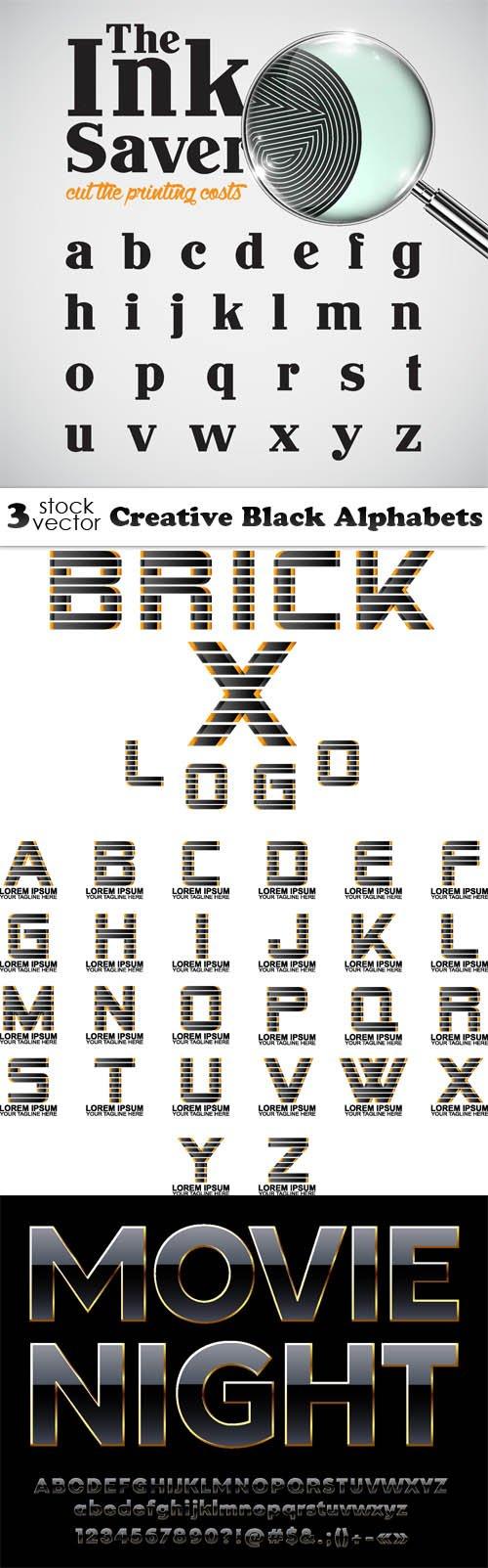 Vectors - Creative Black Alphabets