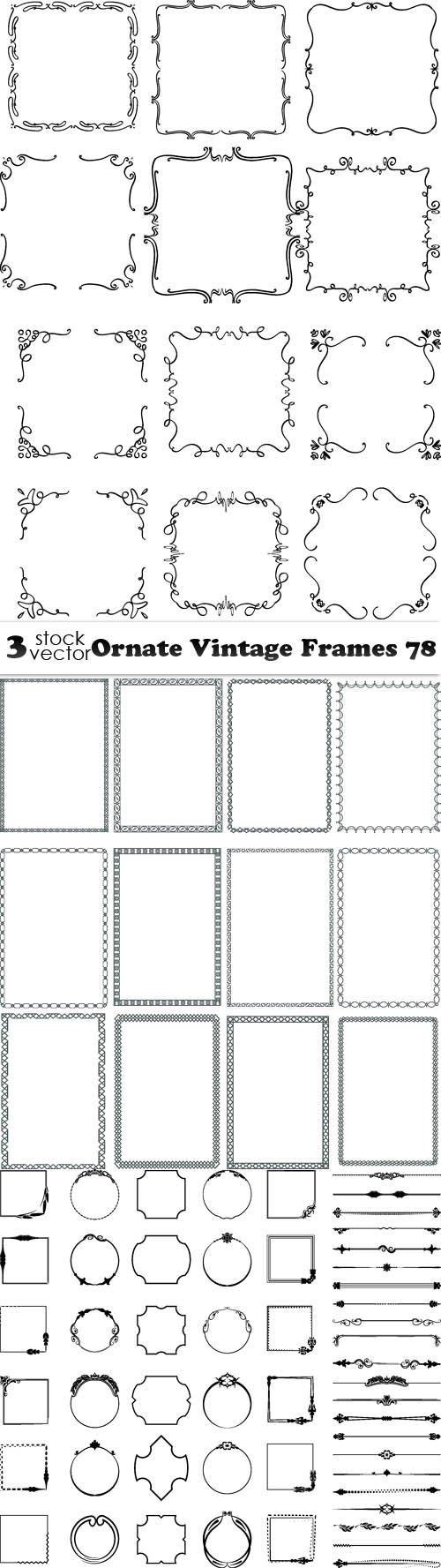 Vectors - Ornate Vintage Frames 78
