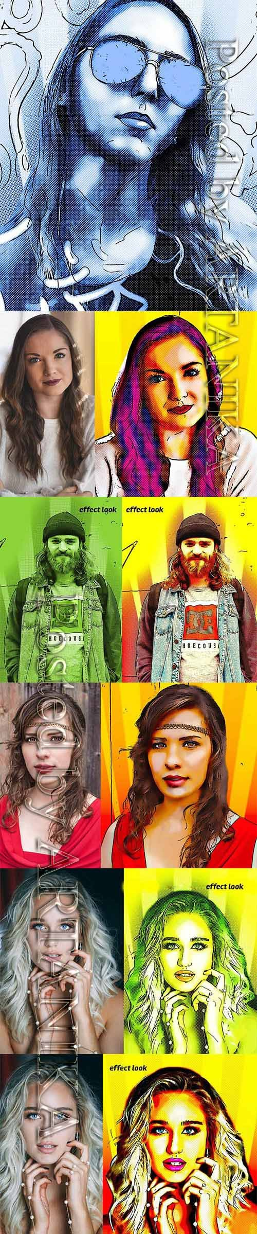 Comic Book Effect Photoshop Action 3501813