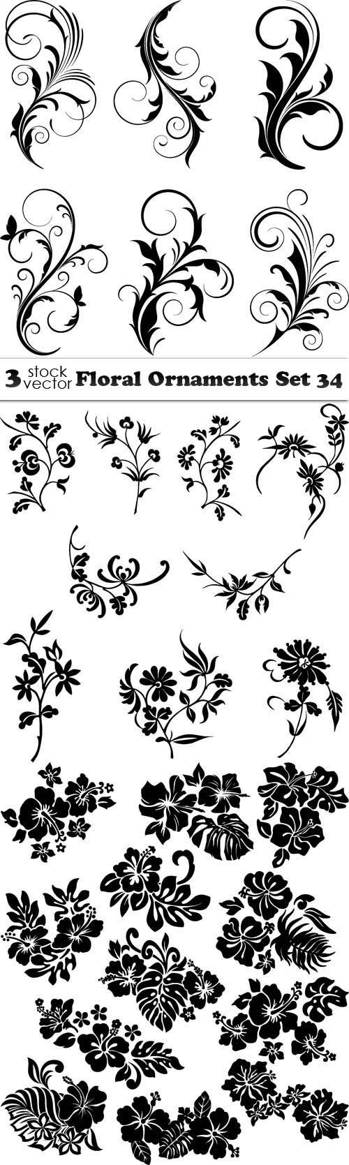 Vectors - Floral Ornaments Set 34