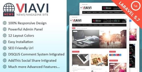 CodeCanyon - Viavi v1.0.3 - News, Magazine, Blog Script - 14108053
