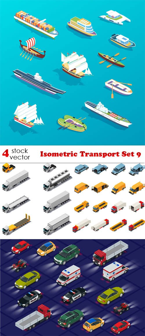 Vectors - Isometric Transport Set 9