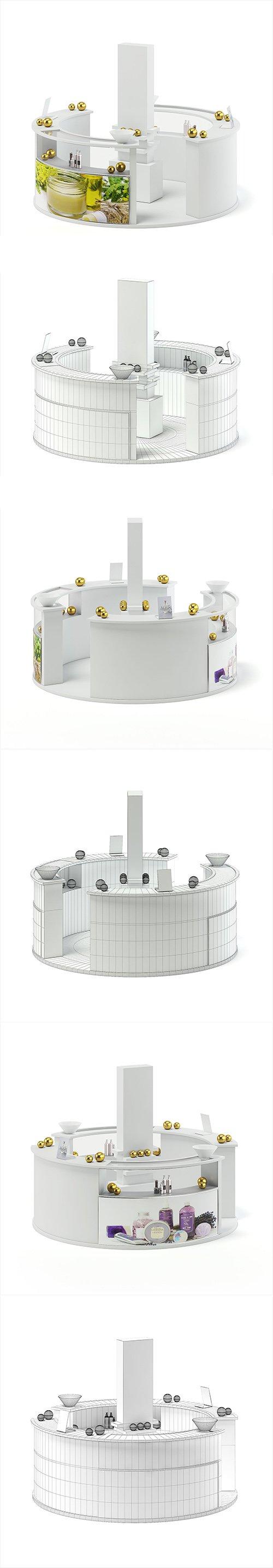 Cosmetic Stall 3D Model 3D model