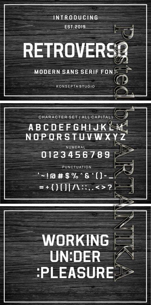 Retroverso Font