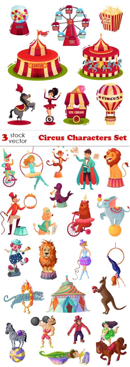 Vectors - Circus Characters Set