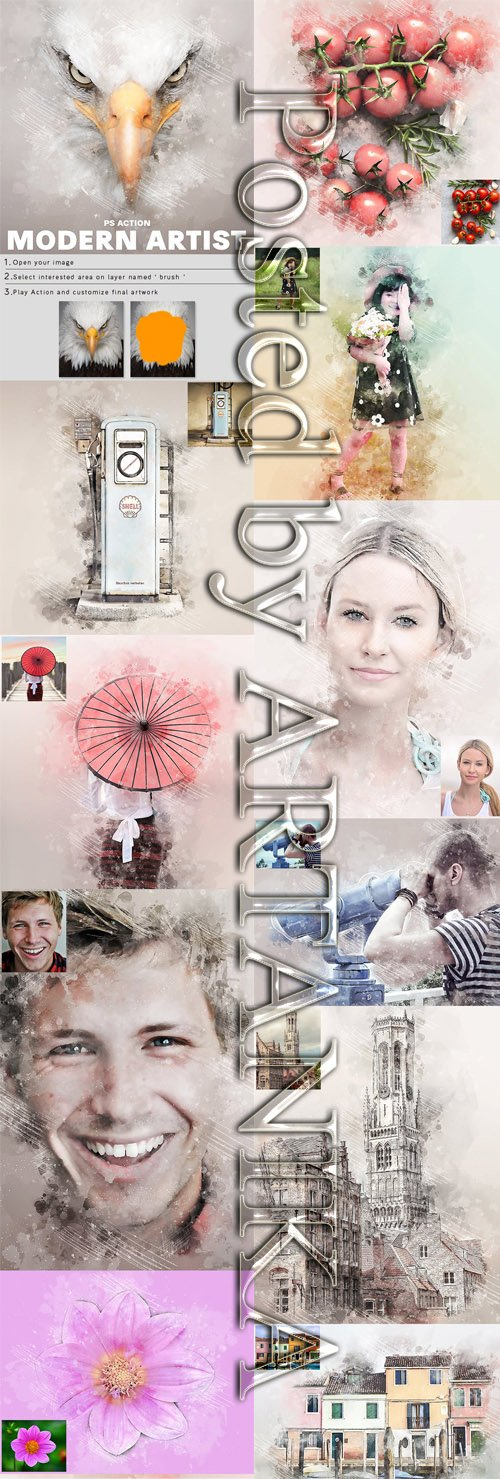 GraphicRiver - Modern Artist Photoshop Action 23353213