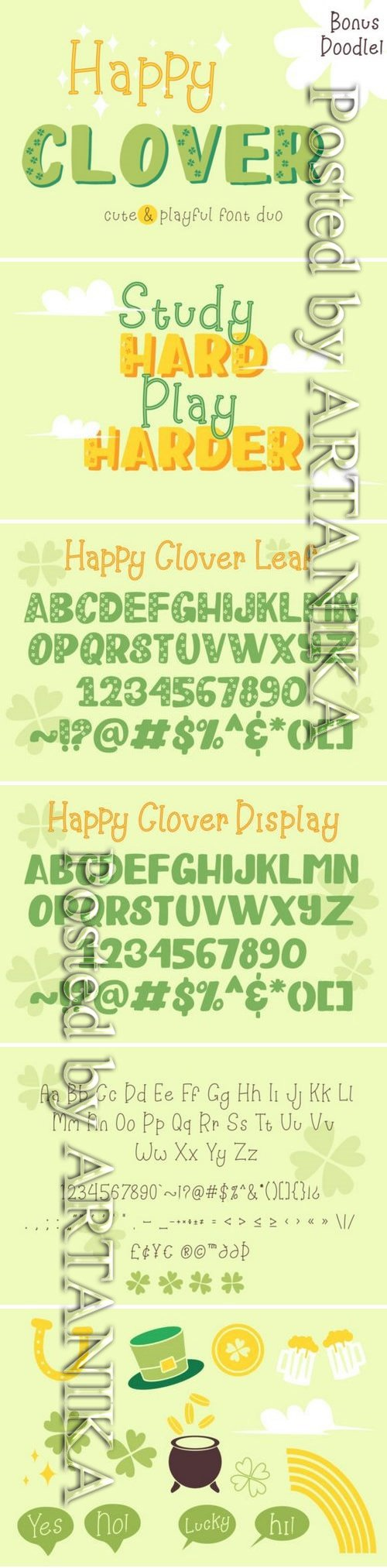 Happy Clover Duo Font