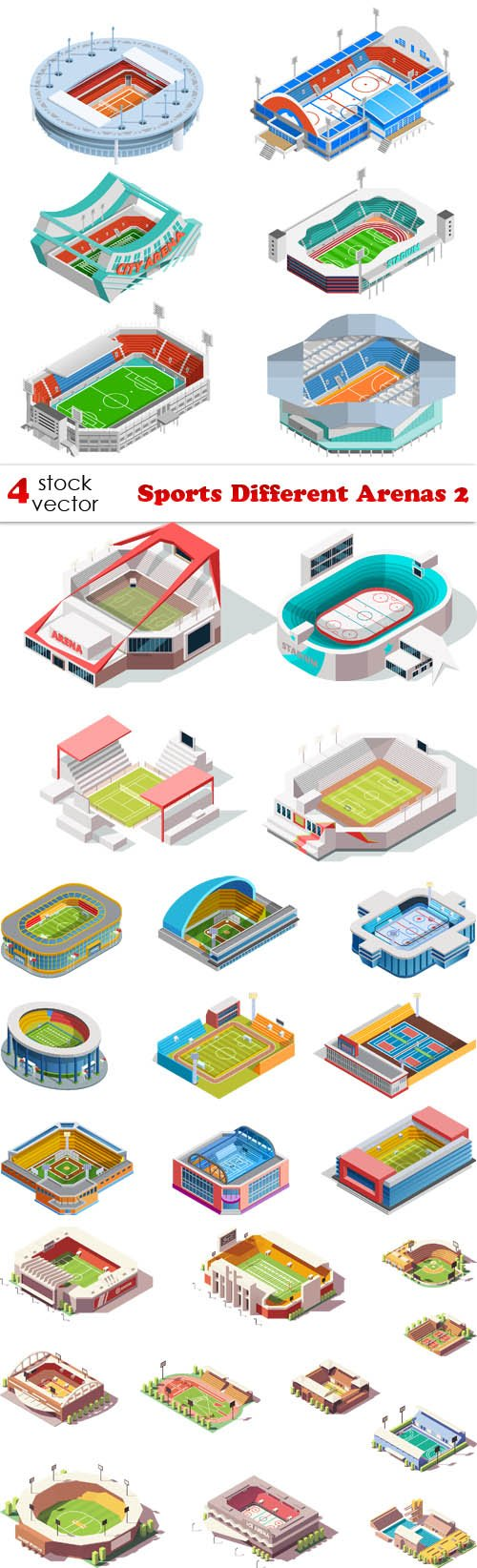 Vectors - Sports Different Arenas 2