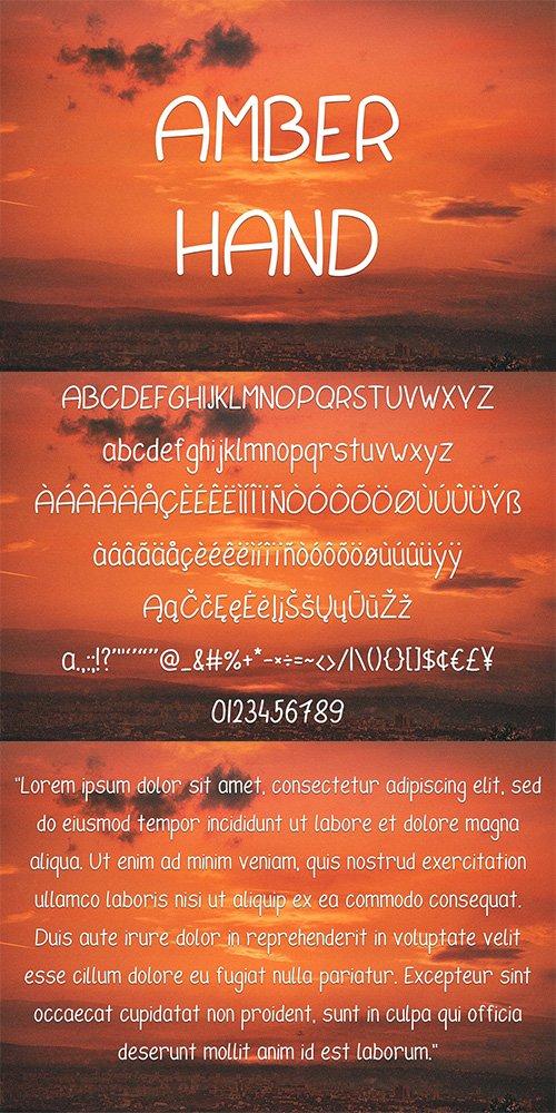Amber Hand Font