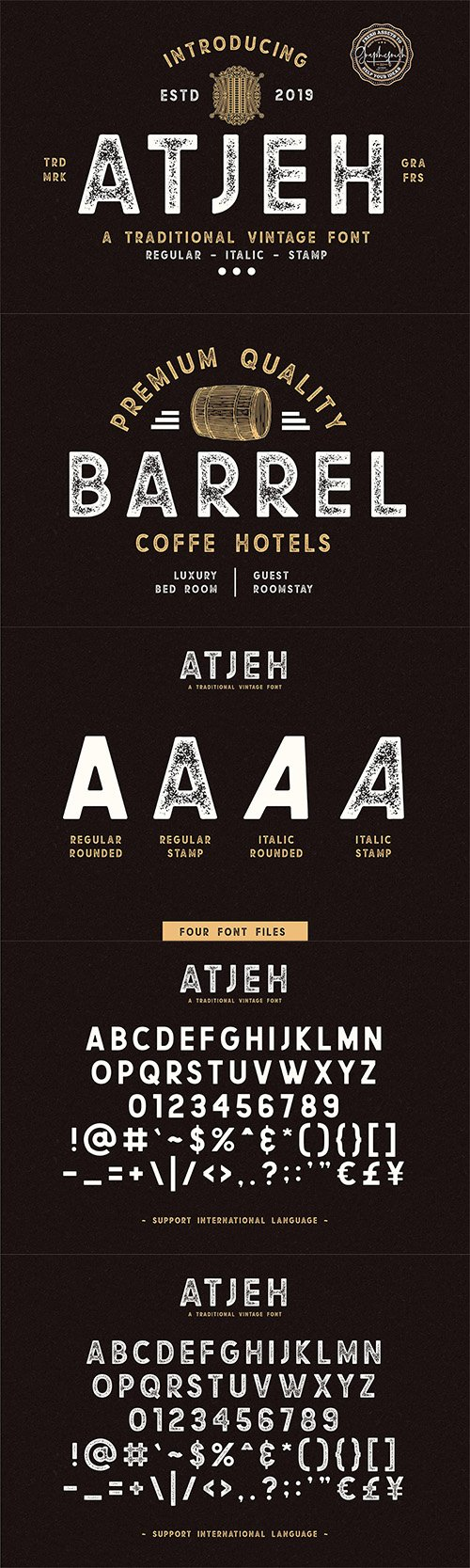 Atjeh - A Traditional Vintage Font 3542390
