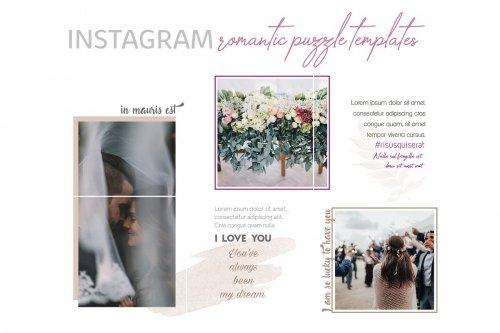 CreativeMarket - Romantic Instagram Puzzle Templates 3539202