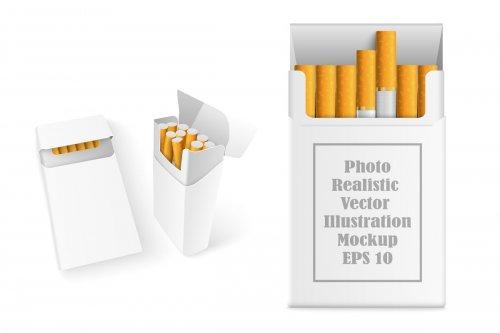 CreativeMarket - Realistic Cigarette Mockup 3534810