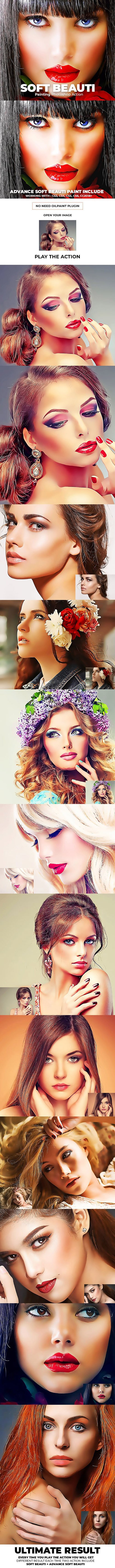 GraphicRiver - Soft Beauty Painting Photoshop Action 23218455