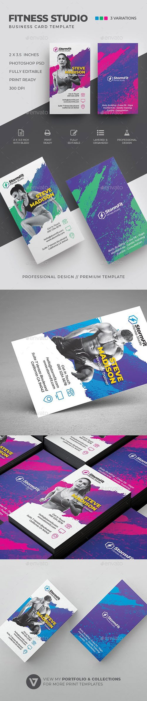 GraphicRiver - Fitness Business Card 23134321